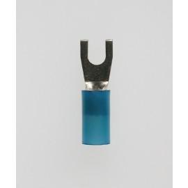 Quetschkabelschuhe Gabelform blau